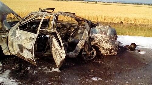 На крымской трассе горел автомобиль (ФОТО), фото-2