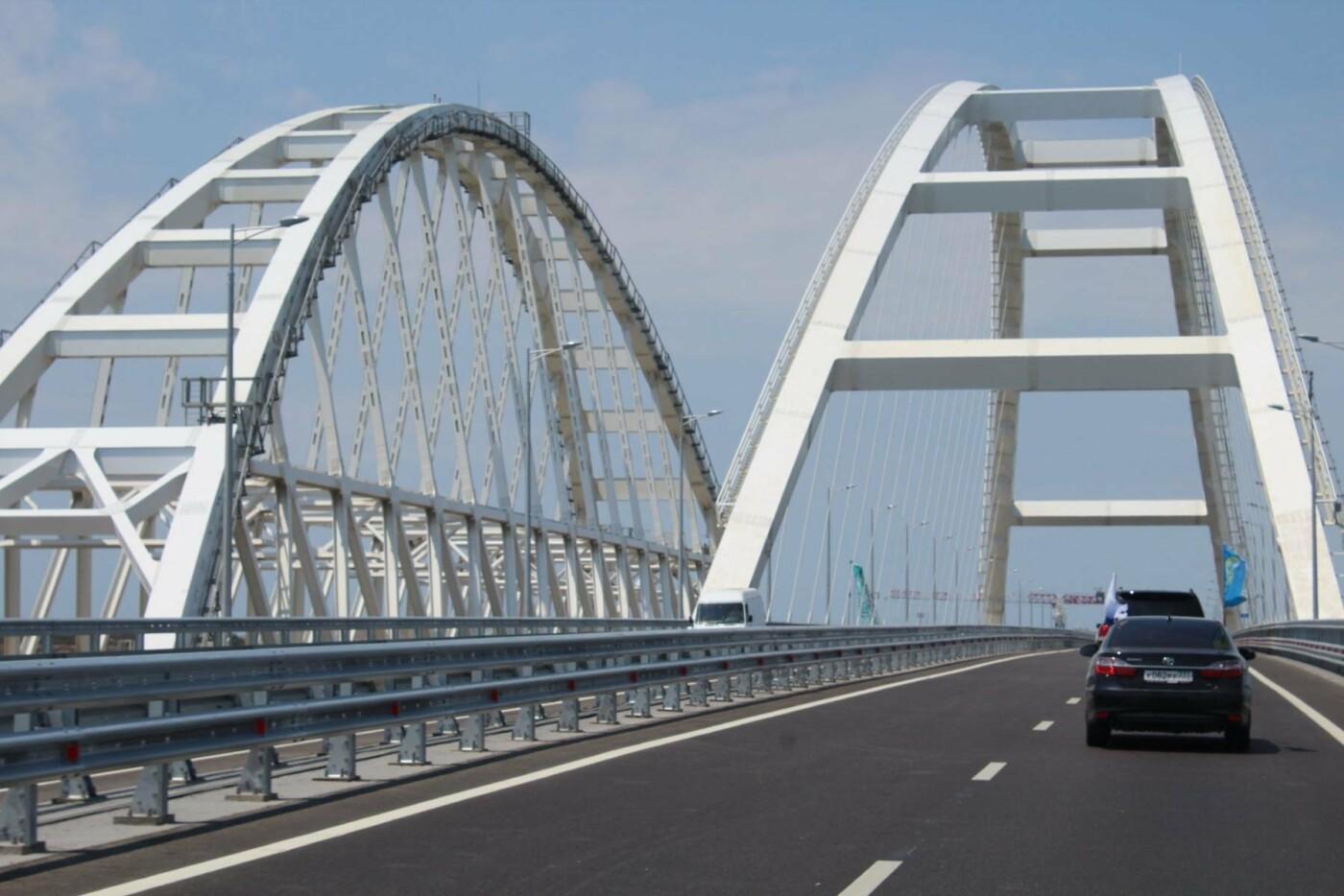 На Крымском мосту состоялся автопробег под крымско-татарским флагом (ФОТО), фото-5