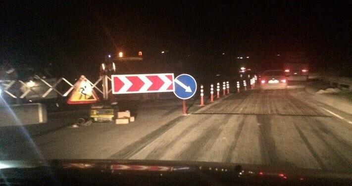 С вечера 9 марта участок трассы Симферополь-Севастополь перекрыт для транспорта