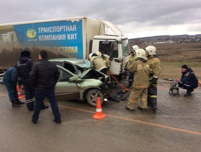 3 человека погибли в утреннем ДТП на трассе Симферополь-Севастополь, - ВИДЕО, ФОТО, фото-1